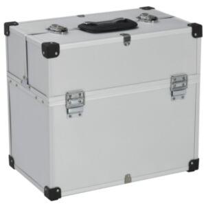 Pood24 tööriistakohver, 43,5 x 22,5 x 34 cm, hõbedane, alumiinium