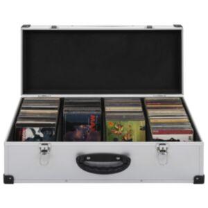 Pood24 CD-kohver 80 CD jaoks, alumiinium, ABS, hõbedane