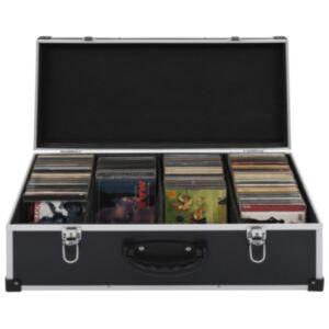 Pood24 CD-kohver 80 CD jaoks, alumiinium, ABS, must