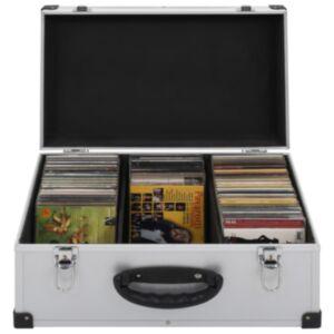 Pood24 CD-kohver 60 CD jaoks, alumiinium, ABS, hõbedane