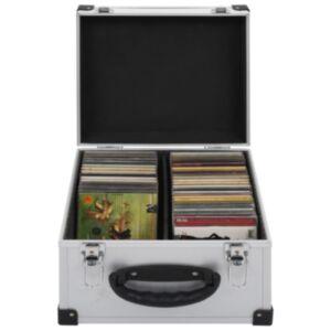 Pood24 CD-kohver 40 CD jaoks, alumiinium, ABS, hõbedane