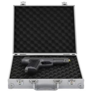 Pood24 relvakohver, alumiinium, ABS, hõbedane