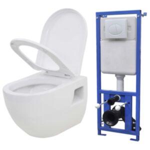 Pood24 seinale kinnitatav peidetud loputuskastiga WC-pott, valge