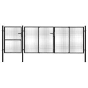 Pood24 aiavärav, teras, 400 x 125 cm, antratsiithall
