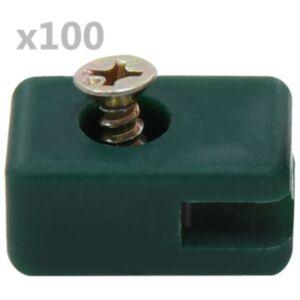 Pood24 aiataraadihoidja kruviga, 100 komplekti, roheline