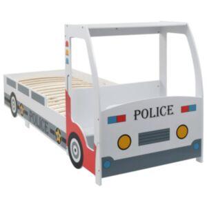 Pood24 politseiauto kujuga lastevoodi koos kirjutuslauaga, 90 x 200 cm