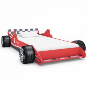 Pood24 võidusõiduauto kujuga lastevoodi 90 x 200 cm punane