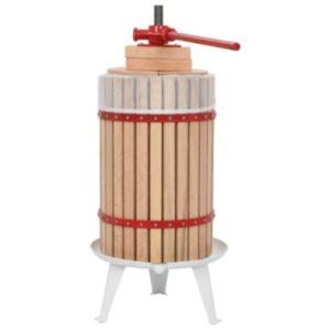 Pood24 puuvilja- ja veinipress riidest kotiga, 24 l, tammepuit