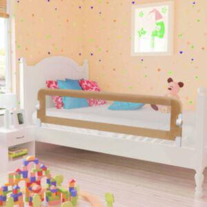 Pood24 voodipiire väikelapse voodile pruunikashall 150x42 cm polüester