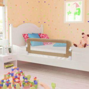 Pood24 voodipiire väikelapse voodile pruunikashall 120x42 cm polüester