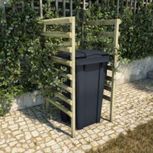 Pood24 1 prügikasti kuur, roheline, 70 x 80 x 150 cm, männipuit