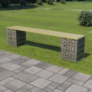 Pood24 gabioonpink 180 cm tsingitud teras ja FSC männipuit