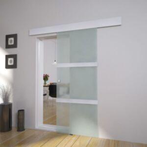 Pood24 liuguks, klaas ja alumiinium, 178 cm, hõbedane