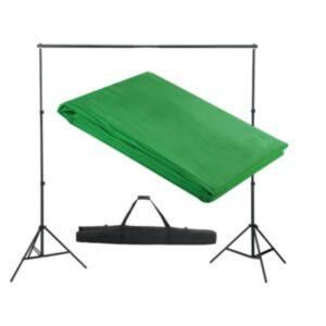 Pood24 tausta tugisüsteem, 300 x 300 cm, roheline