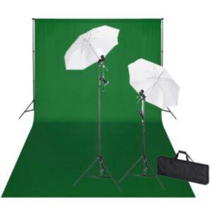 Pood24 stuudiokomplekt: roheline taust 600 x 300 cm ja valgustid