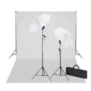 Pood24 stuudiokomplekt valge taustaga 600 x 300 cm ja valgustitega