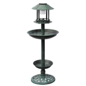 Lindude söögimaja päikeseenergial töötava lambiga