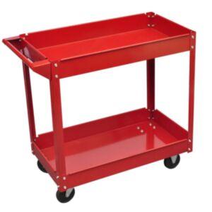 Tööriistakäru punane kaks riiulit
