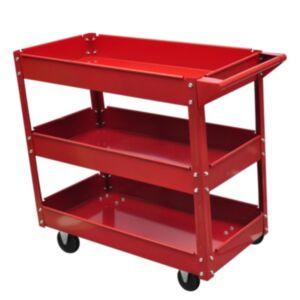 Tööriistakäru punane kolm riiulit