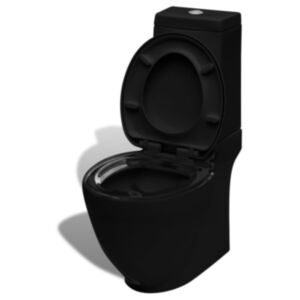 Kandilise paagiga keraamiline WC pott must