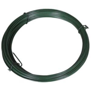 Pood24 võrkaia sidumistraat 25 m 1,4/2 mm, terasest, roheline