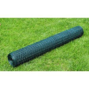 Pood24 kanade traataed tsingutud PVC kattega 25 x 0,5 m, roheline