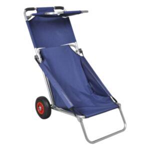 Pood24 ratastega rannakäru, liigutatav, kokkupandav, sinine