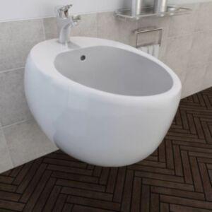 Seinalekinnituv bidee keraamiline valge
