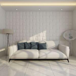 3D seinapaneel ruudustikuga 0,5x0,5 m 24 paneeli 6 m²