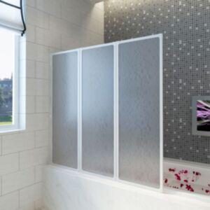 Duši/vannisein 3 paneeli kokkupandav 117 x 120 cm