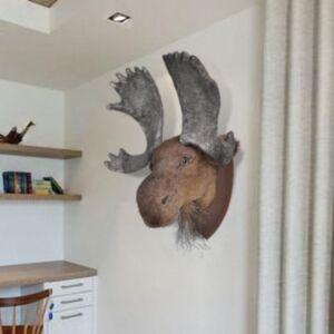 Naturaalse välimusega põdrapea seinakaunistus