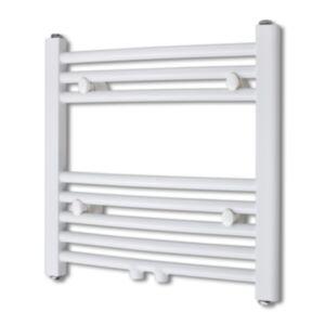 Keskkütteradiaator/käterätikuivati vannituppa, kumer 480 x 480 mm, külgmise ja keskmise ühendusega