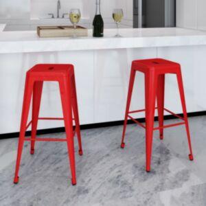 Pood24 baaritoolid 2 tk, punane, teras