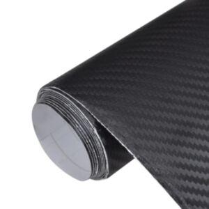 Süsinikkiust auto sisustuse kattematerjal 3D 152 x 200cm, must