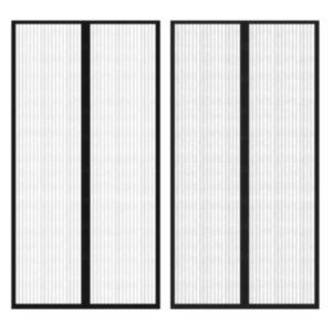 Ukse putukakardin krõpsudega 210 x 100 cm 2 tk magnetiga must