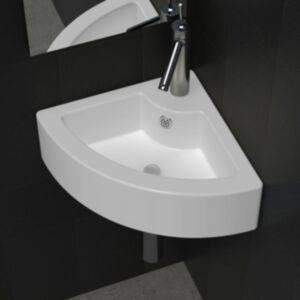 Pood24 valamu, ülevooluavaga 45 x 32 x 12,5 cm, valge