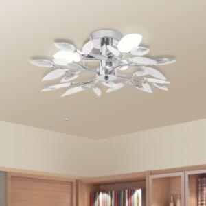 Valge ja läbipaistev akrüülkristallist laelamp kuplitega 3 tk