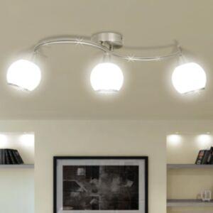 Rippuv laelamp klaaskuplitega 3 tk.  E14 lambipirn