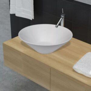 Vannitoa portselanist keraamiline kraanikauss valge