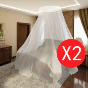 Sääsevõrk voodile ümmargune 56 x 325 x 230 cm 2 tk