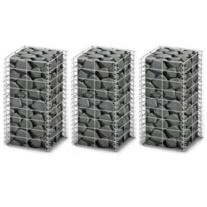 Pood24 gabioonide komplekt, 3 tk, tsingitud traat 25 x 25 x 50 cm