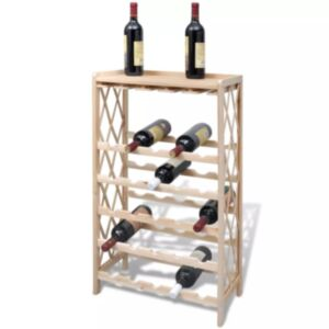 Pood24 puidust veiniriiul 25 pudelile