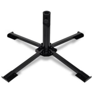 Pood24 kokkupandav päevavarju alus, terasest, must