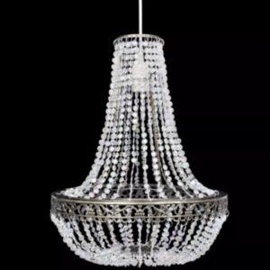 Kristallidega rippuv kroonlühter 36,5 x 46 cm