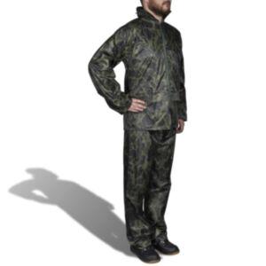 Meeste vihmaülikond kapuutsiga, kaitsevärvi XL