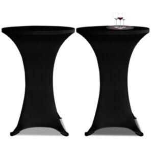 Kõrge laua kate 2 tk Ø 60 cm, veniv must
