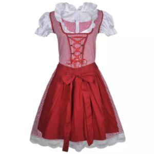 Oktoberfest Dirndl kleit põllega punane ja roosa S/M