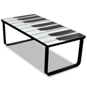 Pood24 klaasplaadiga klaverimustriga kohvilaud