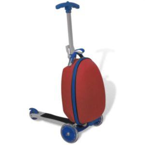 Pood24 laste tõukeratas kohvriga, punane