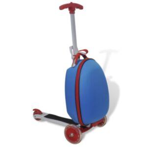 Pood24 laste tõukeratas kohvriga, sinine